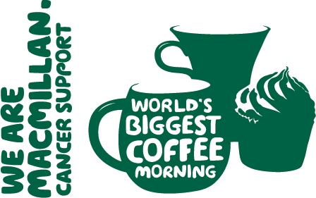We are Macmillan. Cancer support. Worlds biggest coffee morning. 29th September.