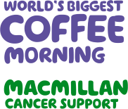 We are Macmillan. Cancer support. World's biggest coffee morning.